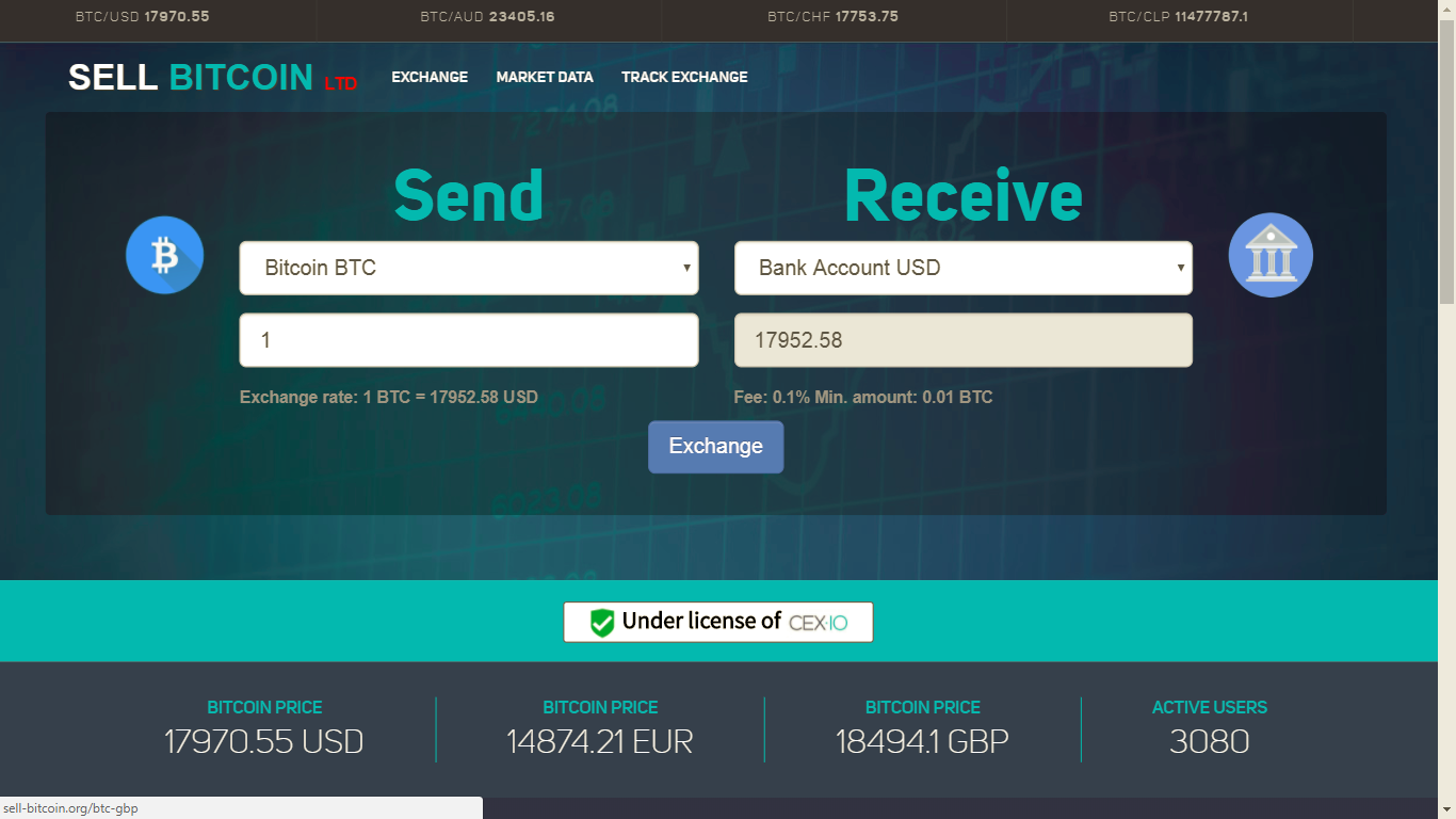 Sell Bitcoin LTD screenshot