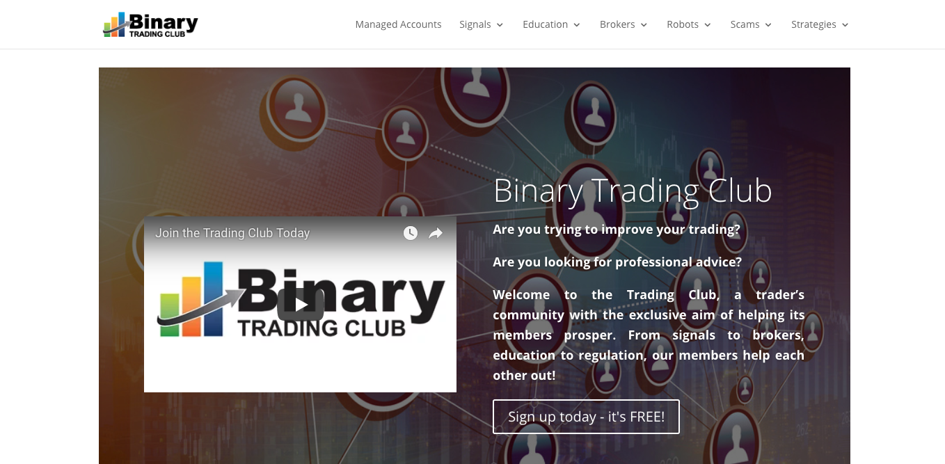 Binary Trading Club screenshot