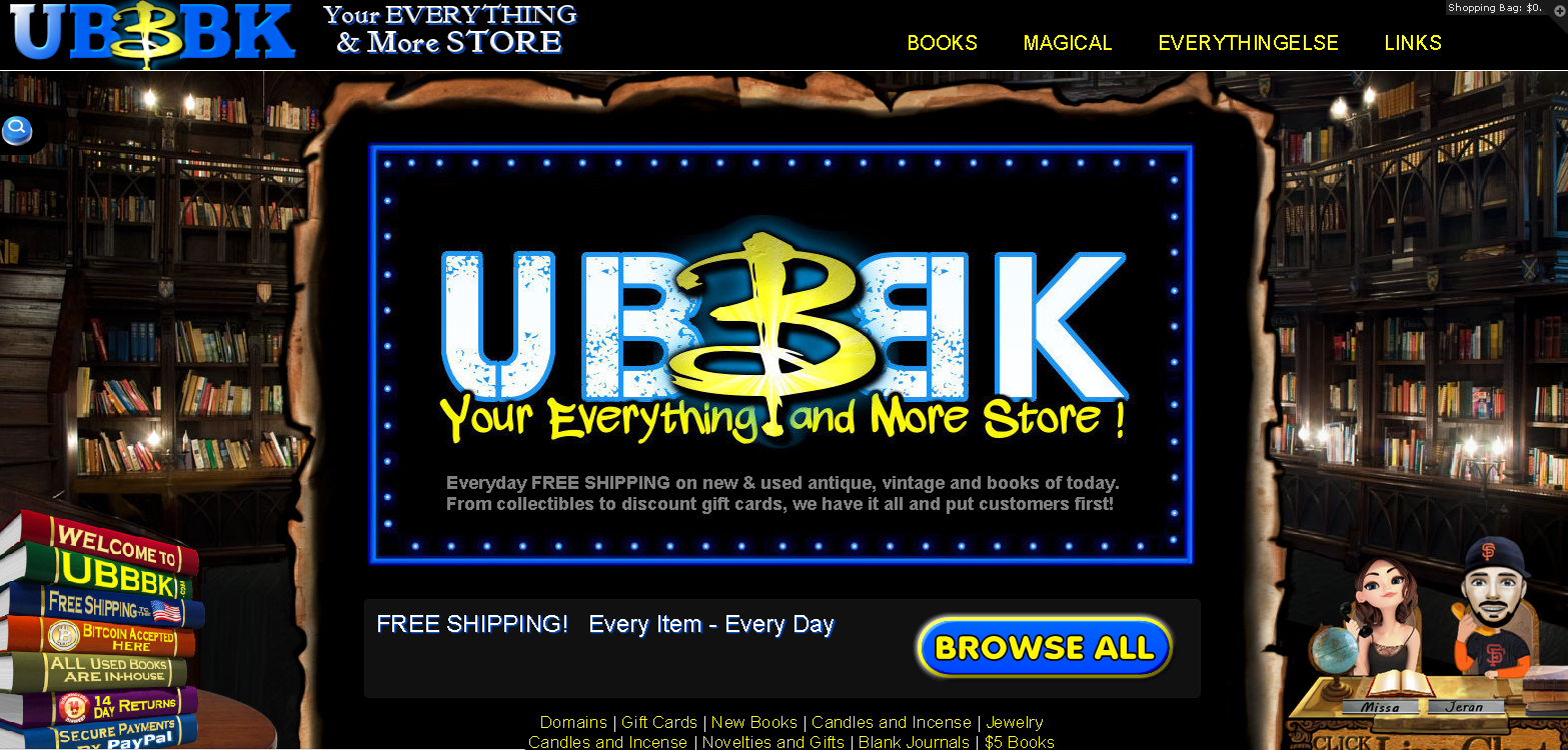 UBBBK Your Everything and More Store screenshot