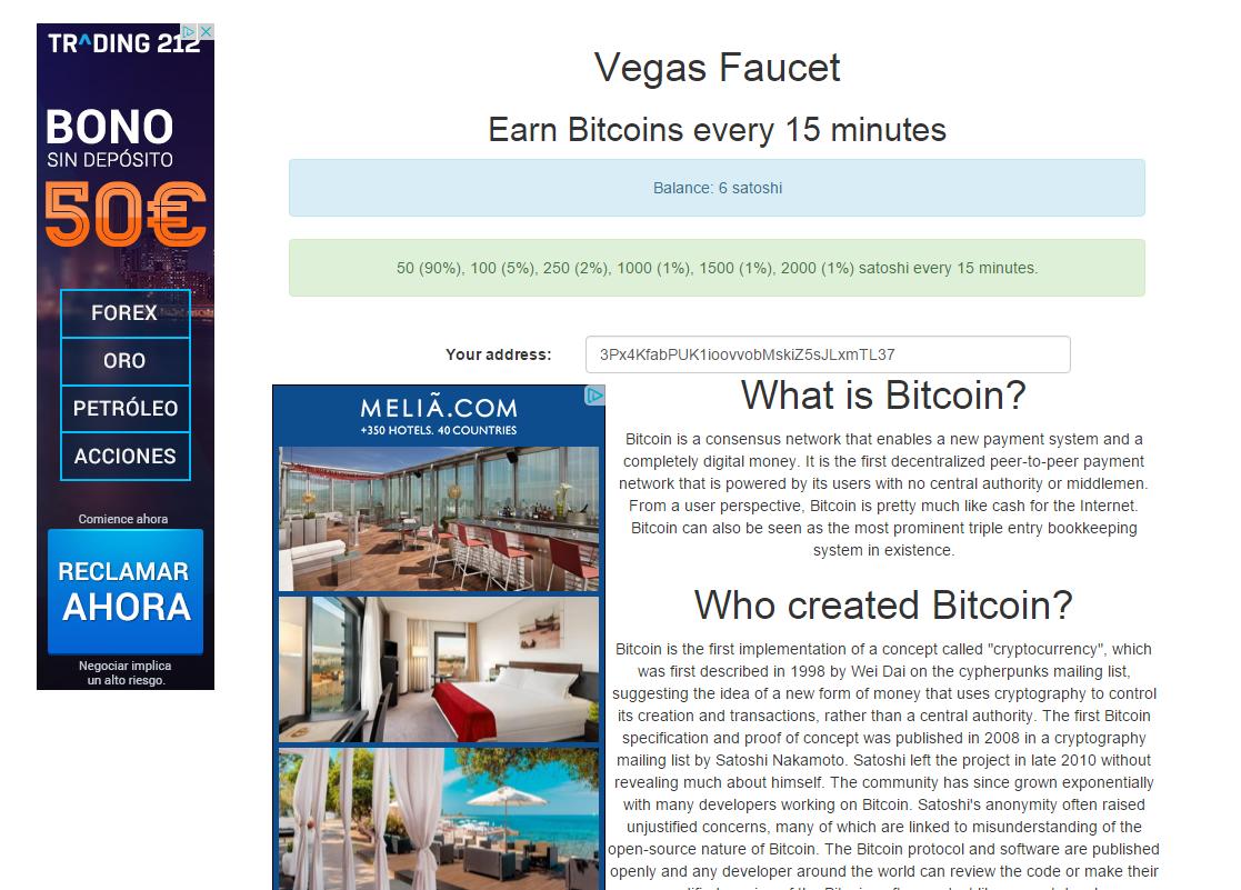 Vegas Faucet screenshot