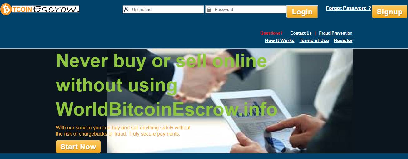 world bitcoin escrow  screenshot