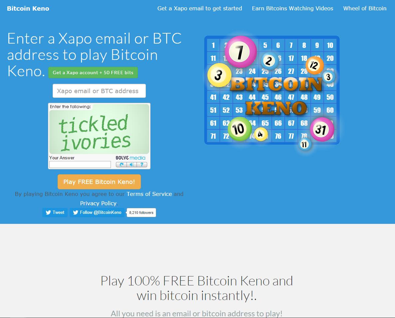 gratuit bitcoin keno