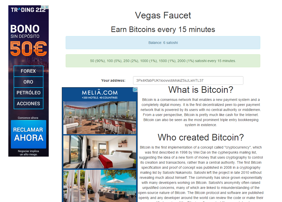 Vegas Faucet - Reviews - Bitcoin Free Bitcoins - BitTrust org